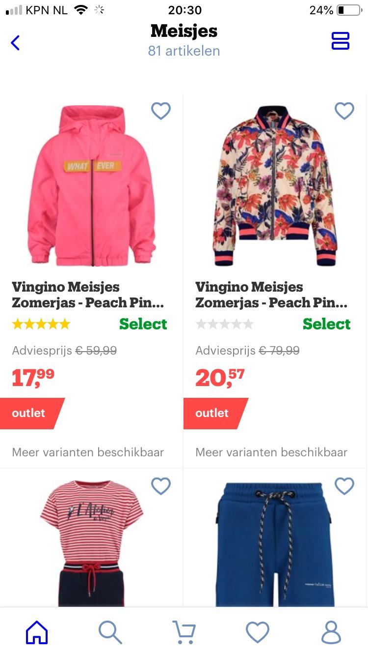 Kinderkleding minimaal 70% korting bij bol.com oa vingino braqeez name it etc