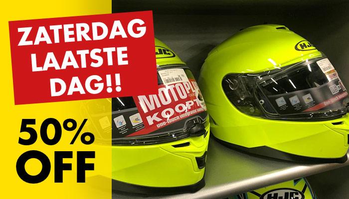 MotoPort Wateringen: 50% korting op alle helmen en motorkleding (Zaterdag 9 nov laatste dag)