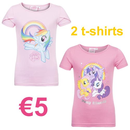 2 My Little Pony t-shirts €5 (+meer cartoons!) @ V&D