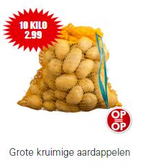 10kg aardappelen voor €2,99 bij Dirk (t/m zaterdag 9 nov)