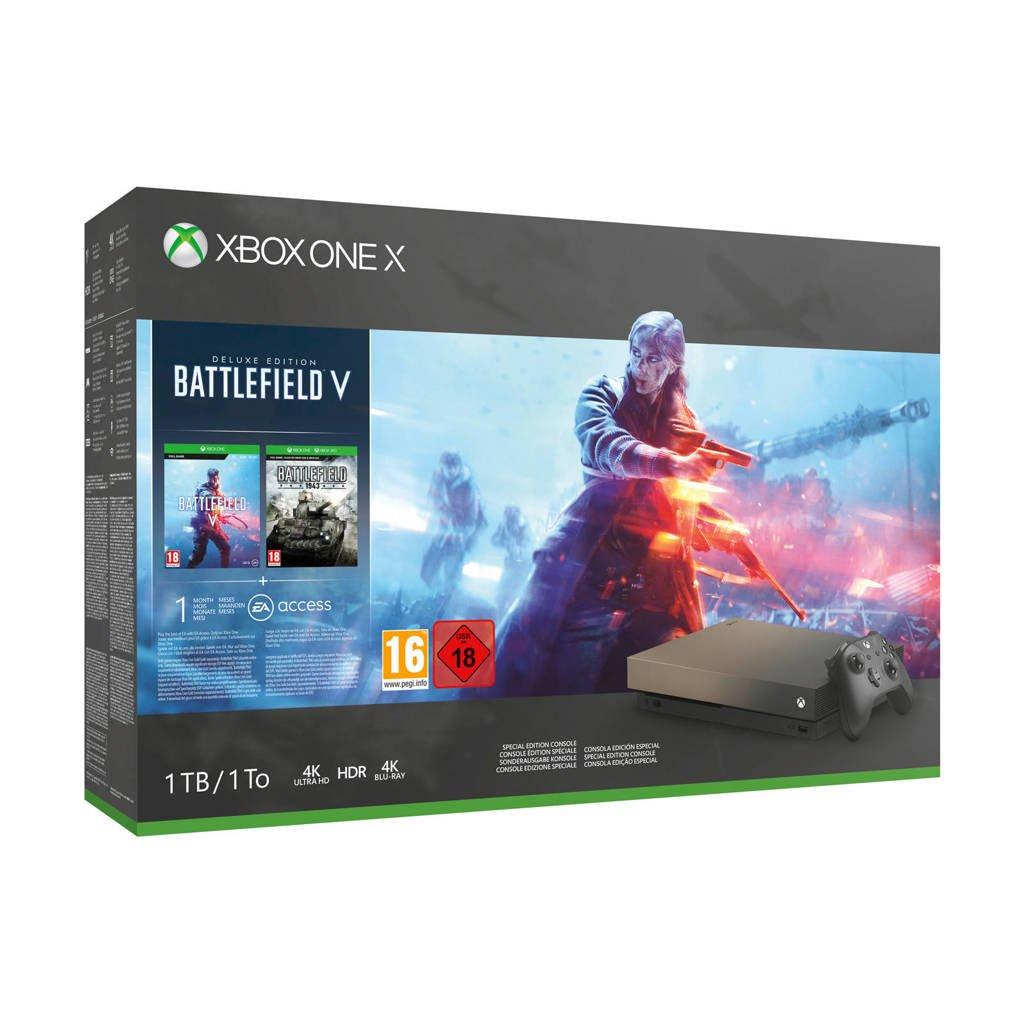 Microsoft Xbox One X 1 TB + Battlefield V of Forza Horizon 4 met Gratis Verzending