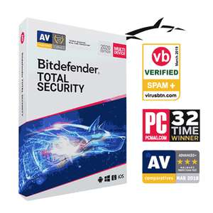 Bitdefender Total Security 1 jaar voor 5 apparaten