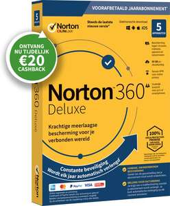 Norton Security ...Na cashback van 21,99 voor 1,99 voor 5 devices
