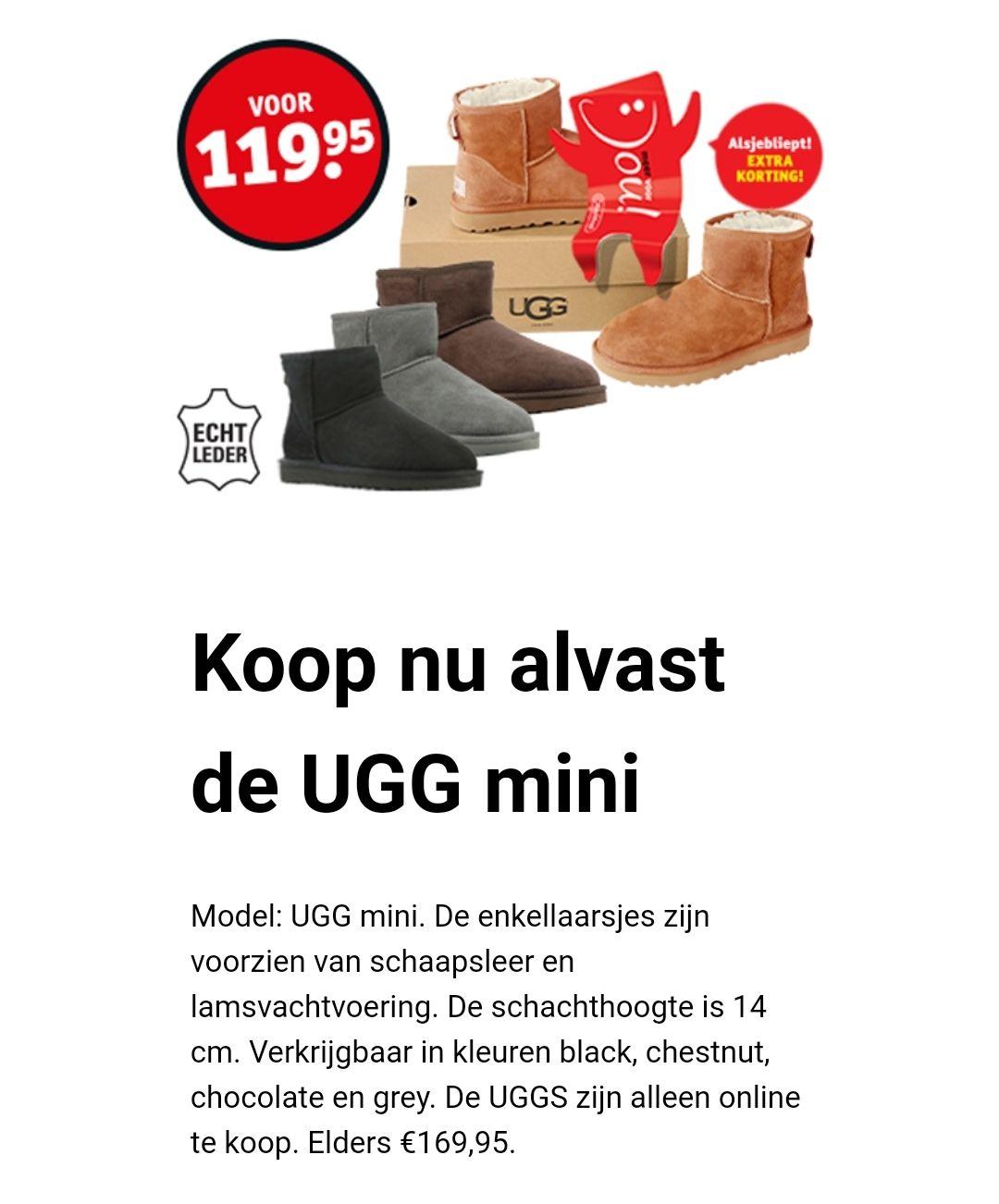Uggs mini €119 @ Kruidvat
