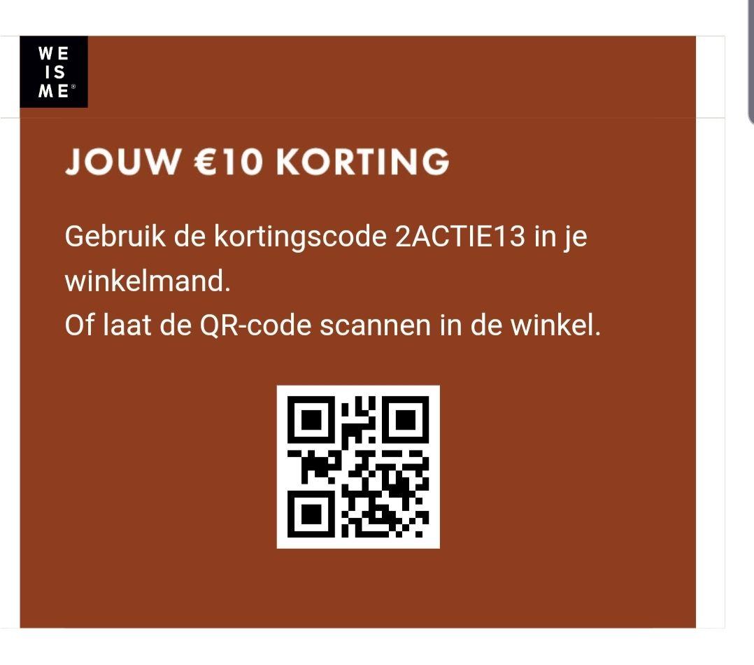 WE fashion 10 euro korting bij besteding van 50