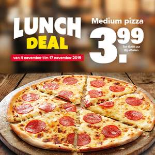 Domino's Pizza Stuntlunch! Medium Pizza €3,99