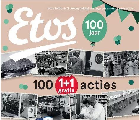 100 1+1 Gratis aanbiedingen @ Etos