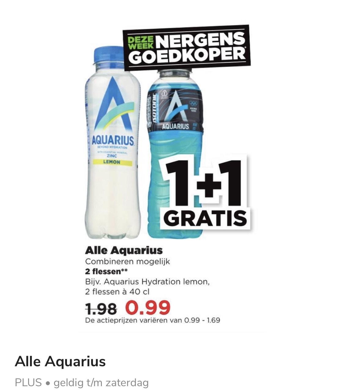 Alle Aquarius 1+1 gratis