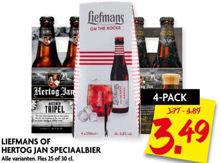 Dekamarkt - Liefmans of Hertog Jan speciaalbier 4-pack