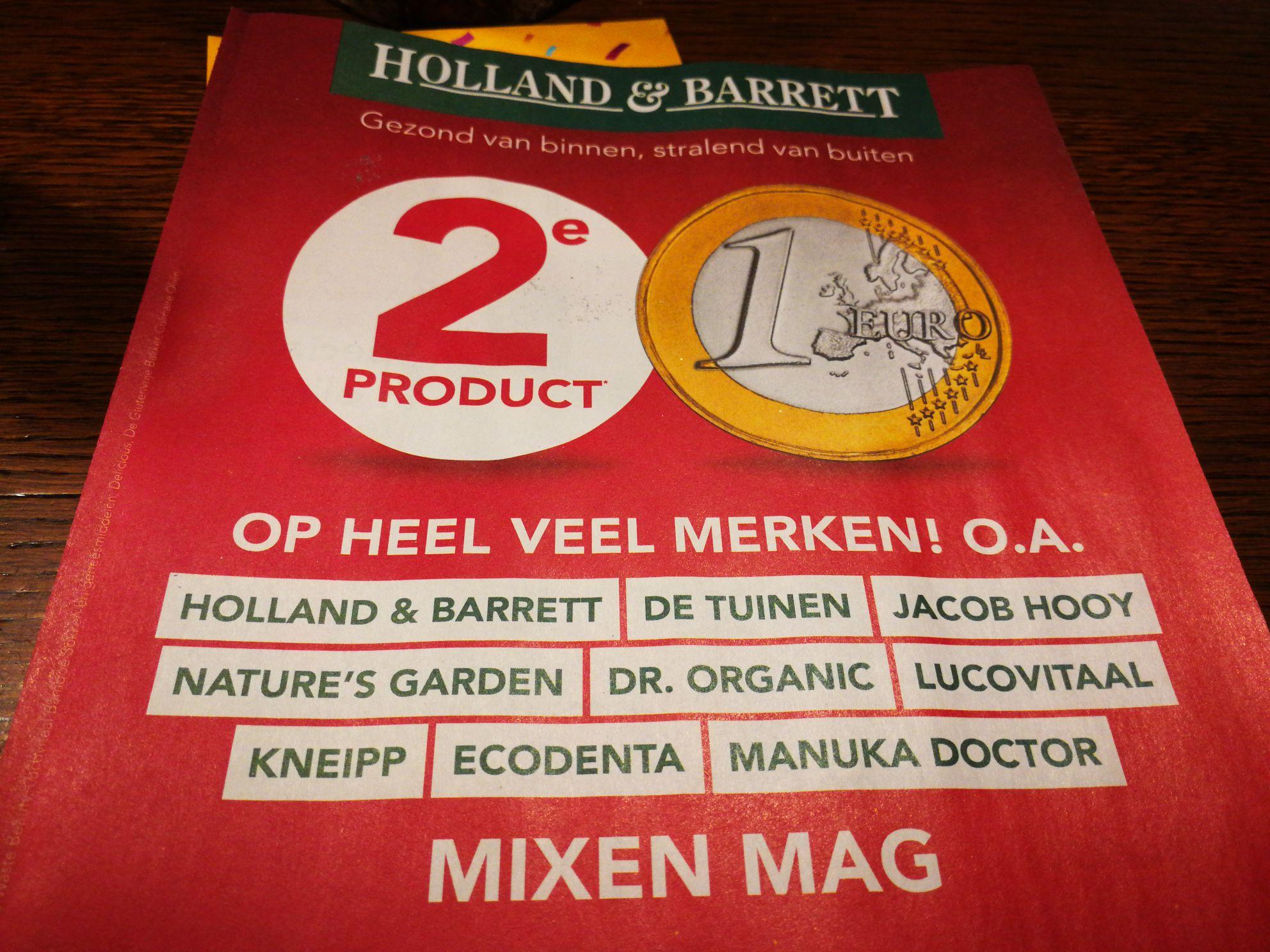 Holland & Barrett 2e product 1 euro.