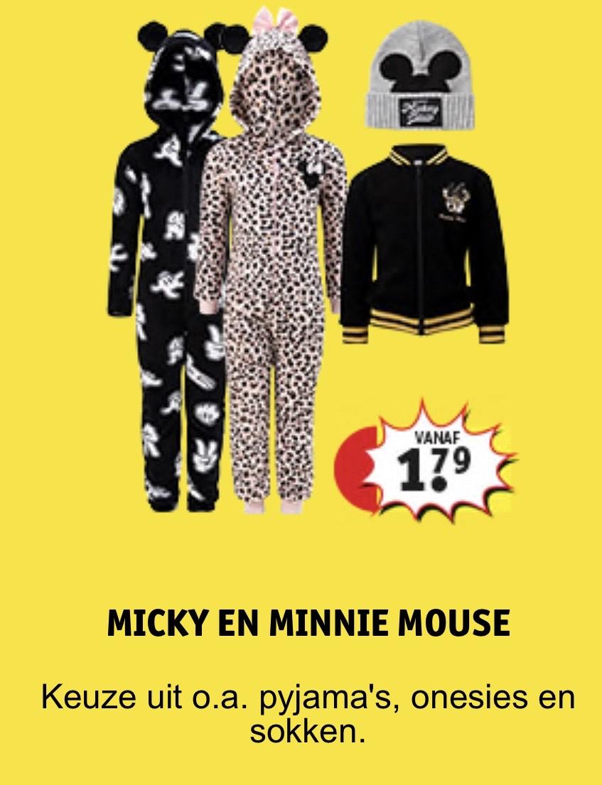 Mickey & Minnie Mouse accessoires, pyjama's en kleding vanaf €1,79 @ Kruidvat