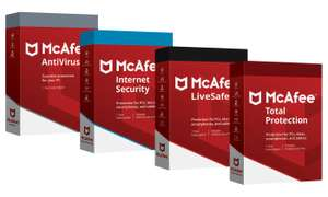 McAfee Antivirus, Internet Security, Total Protection of LiveSafe voor pc, Mac, smartphones en tablets