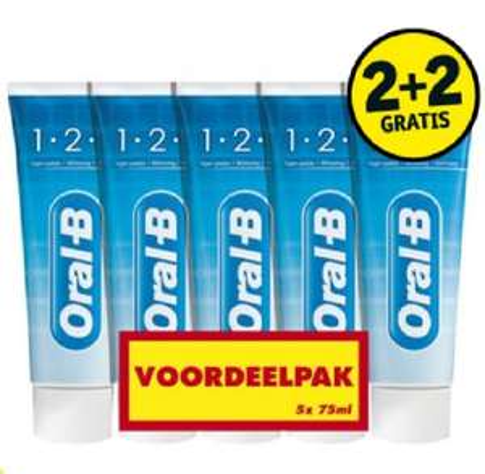 Oral-B 1-2-3 Tandpasta (20 stuks voor €10 = €0,50 per tube) @Kruidvat