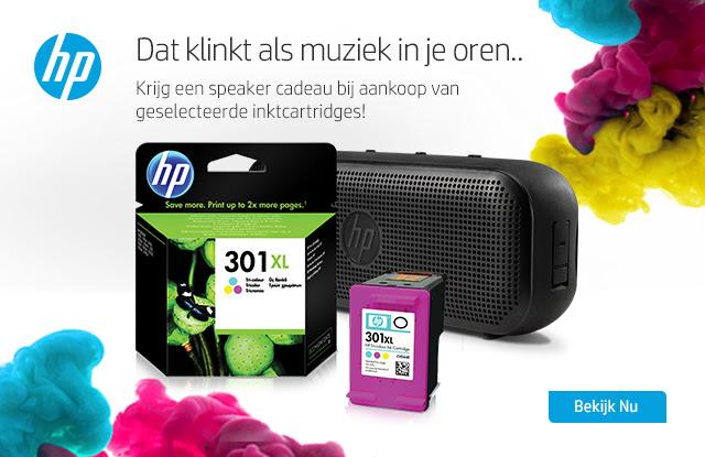 Gratis HP Bluetooth luidspreker 400 bij aankoop van geselecteerde HP cartridges