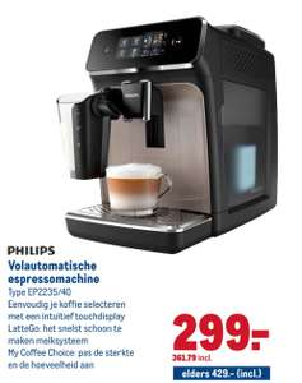 Philips EP2235/40 volautomatische espressomachines @Makro