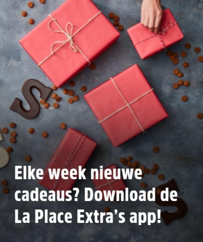 Sinterklaasactie bij La Place met de Extra App - 4 weken (oa gratis warme drank, koffie+gebak €1, broodje €2)