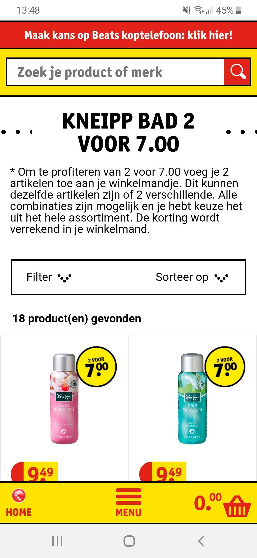 Kneipp bad 2st. Voor €7
