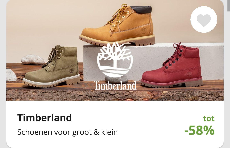 Timberland schoenen tot 58% korting