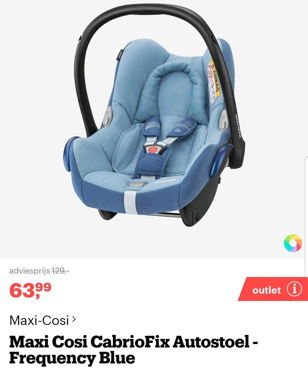 Maxi Cosi Cabriofix autostoel €63.99 @ Bol.com