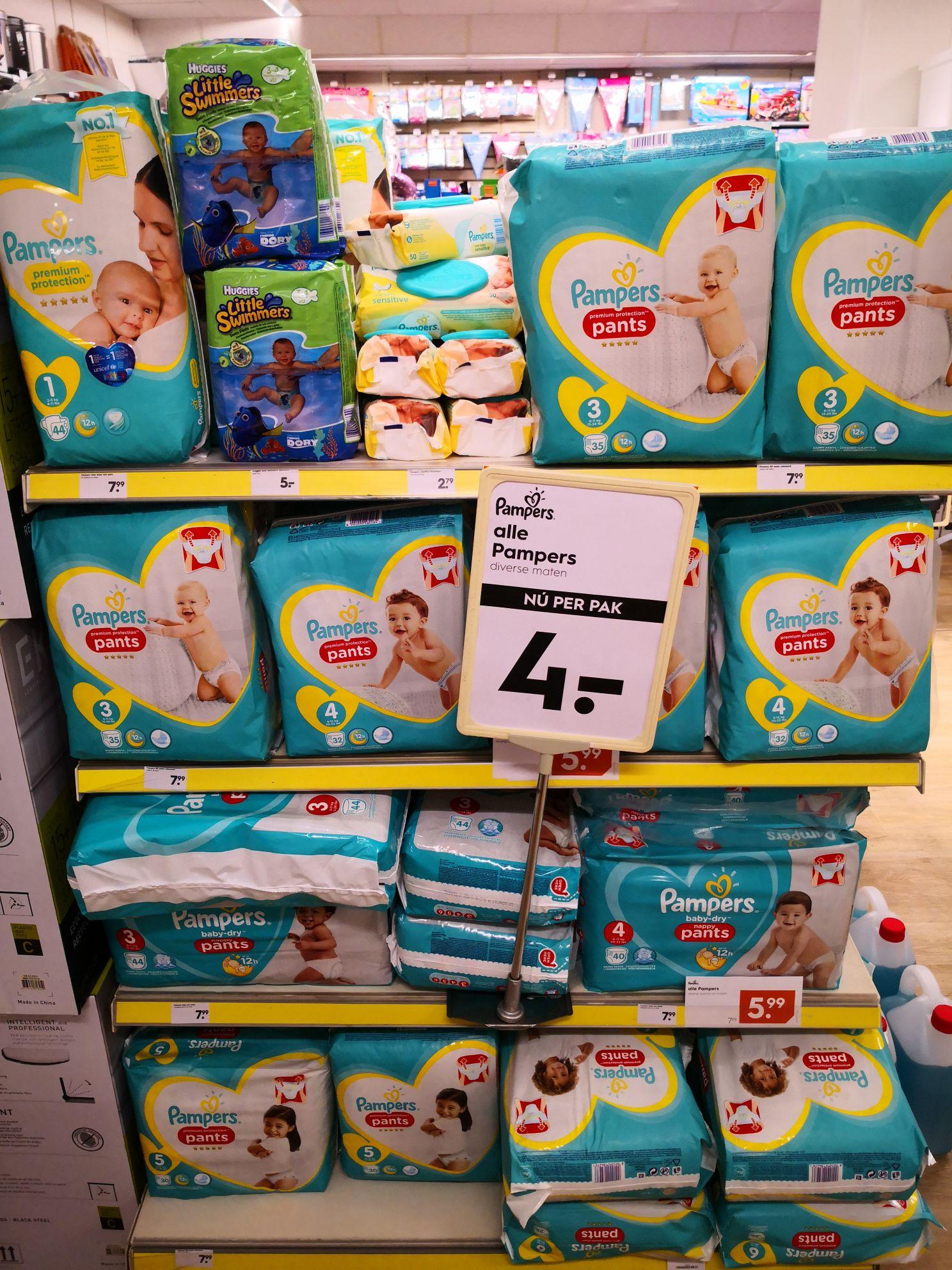Alle pampers broekjes 4 euro per pak! Normaal 7,99!