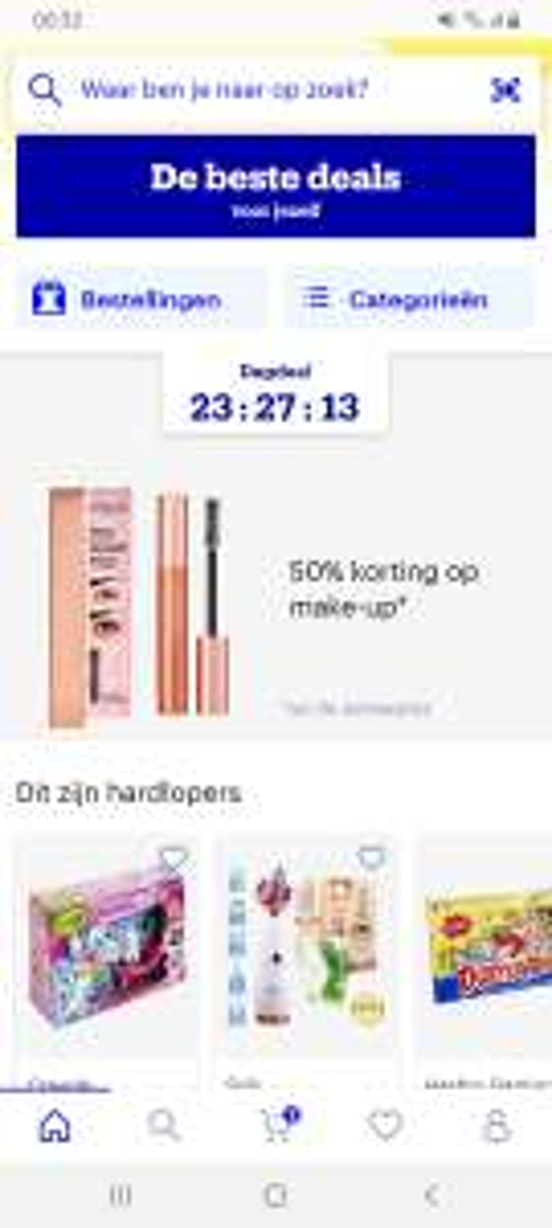 DAGDEAL 50% korting op makeup bij Bol.com