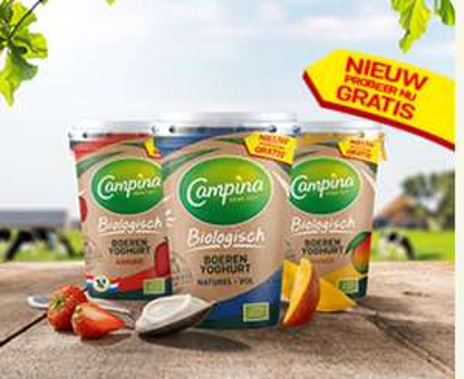 gratis Campina Biologisch Boerenyoghurt 450g@eurosparen