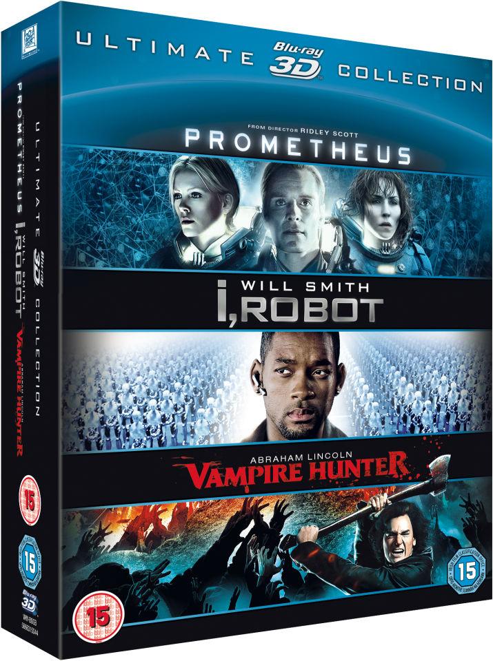 Ultimate 3D Collection Blu-ray (Prometheus/I Robot/Abraham Lincoln) @ Zavvi