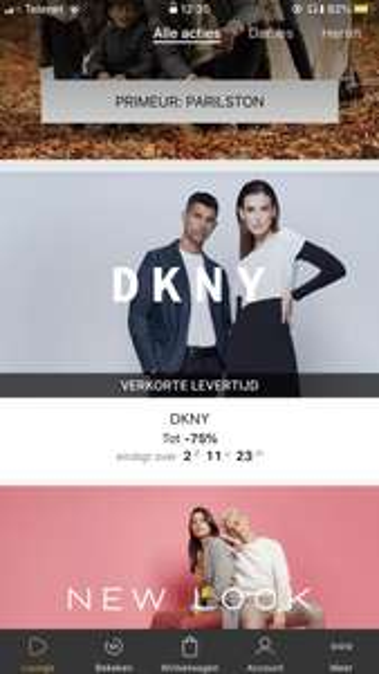 Tot 75% korting DKNY
