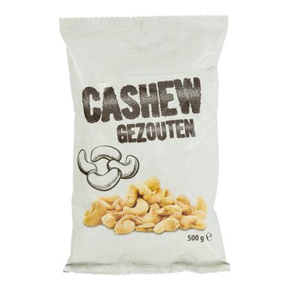 PLUS Cashewnoten 500 gram voor 3,49 euro.