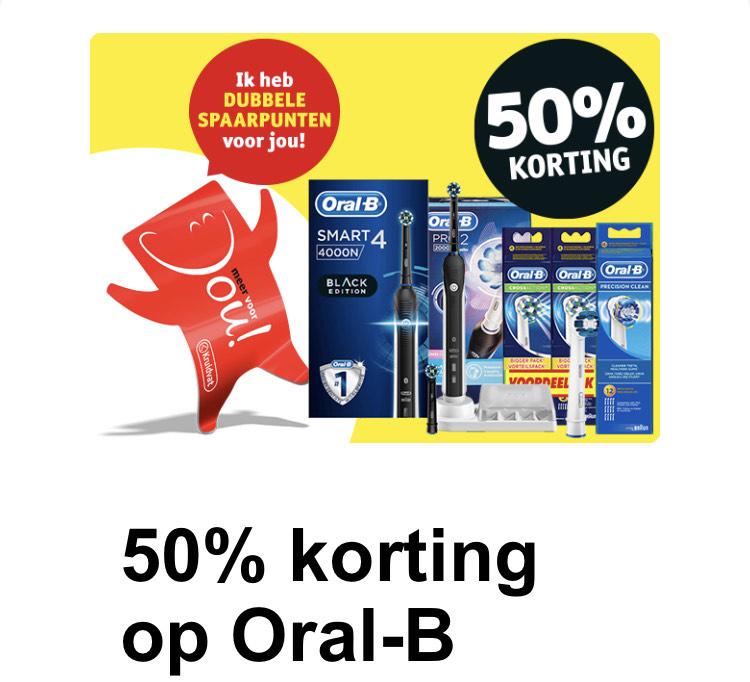 50% korting op Oral-b + dubbele spaarpunten | Kruidvat