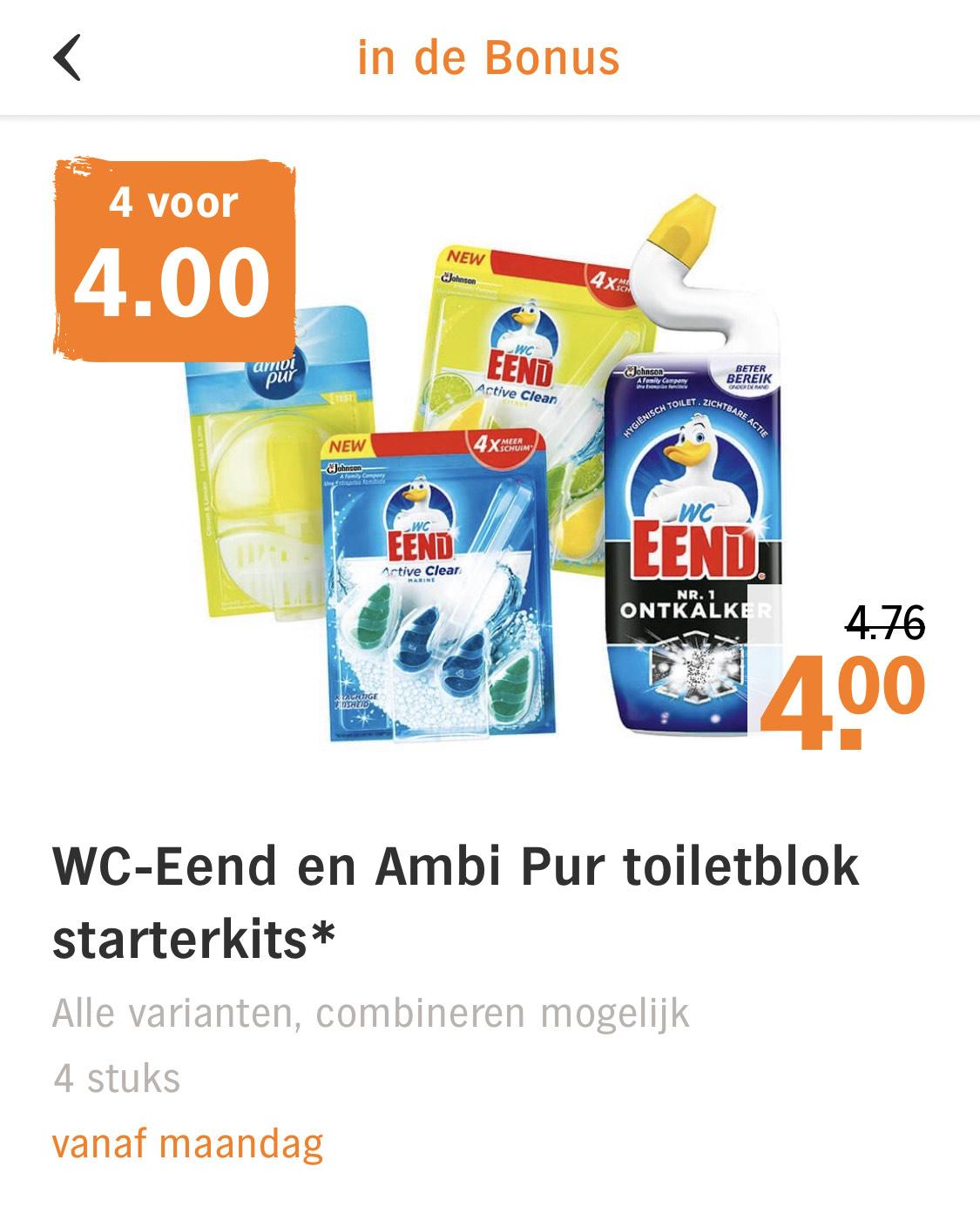 AH.nl: WC-Eend tot 66% korting - 4 voor 4€