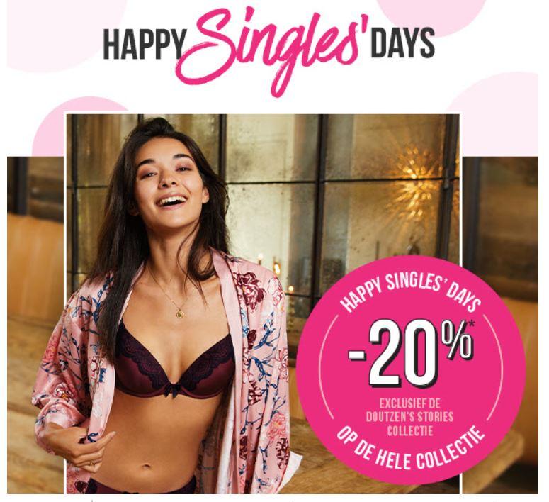 Singles Day: 20% korting op alles (excl doutzen's stories) @ Hunkemöller