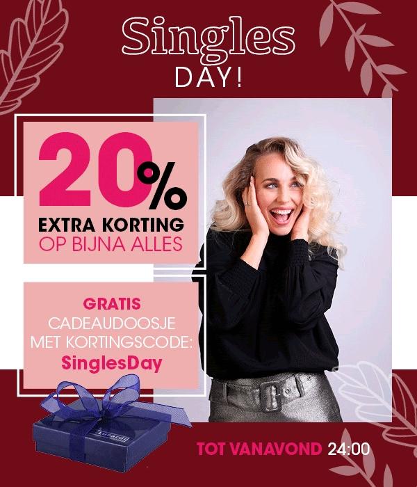 Singles Weekend met 20% extra korting op bijna alles + gratis cadeaudoosje @ Lucardi