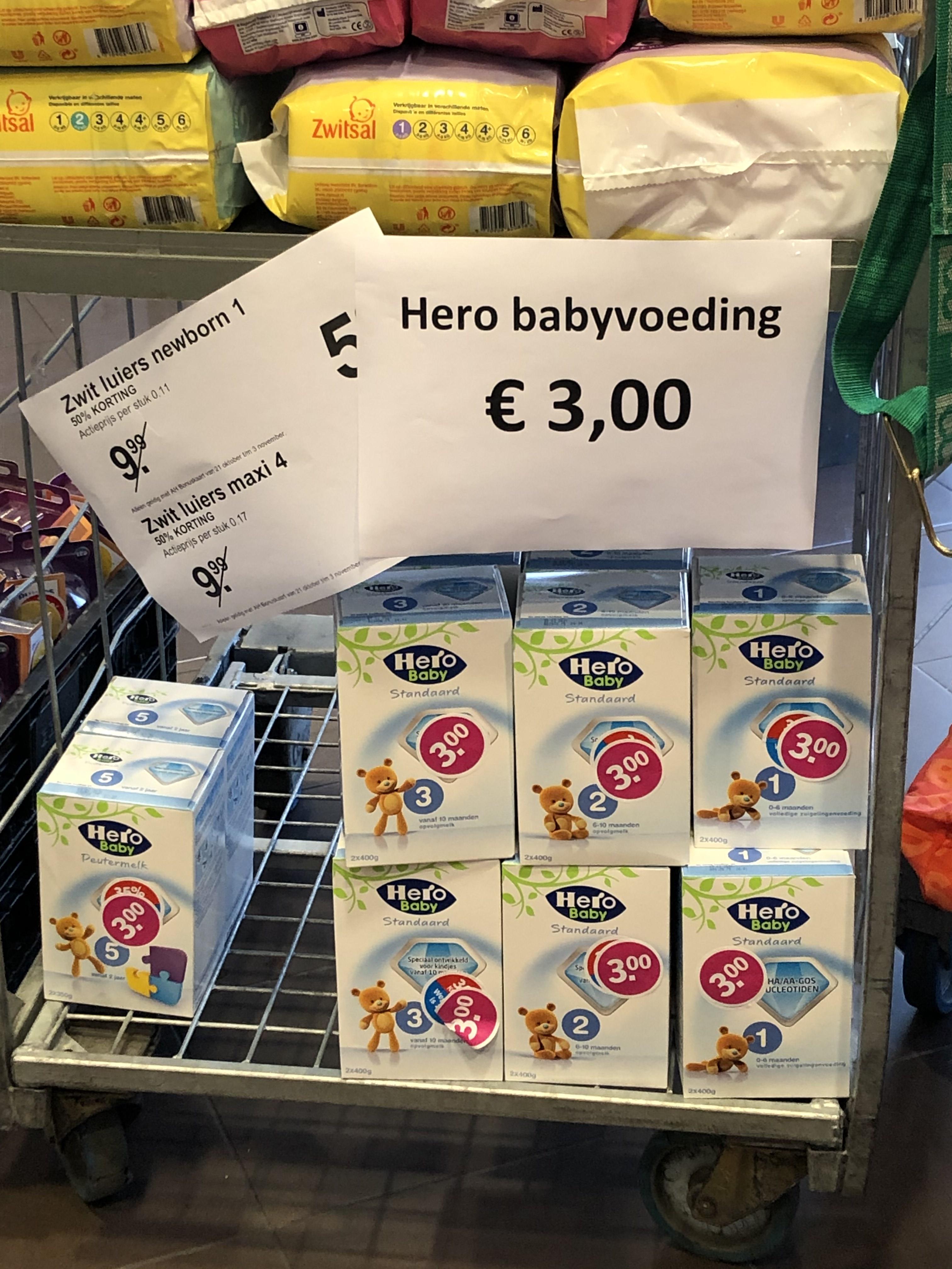 LOKAAL Vaals - Hero baby melkpoeder €3 (ipv 10)
