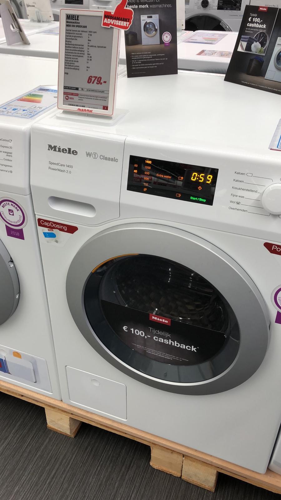 Miele WDD 330 Speedcare wasmachine voor €579