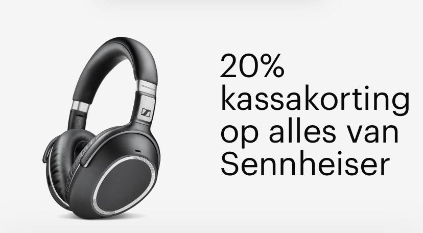 20% kassakorting op alles van Sennheiser dagdeal bol.com