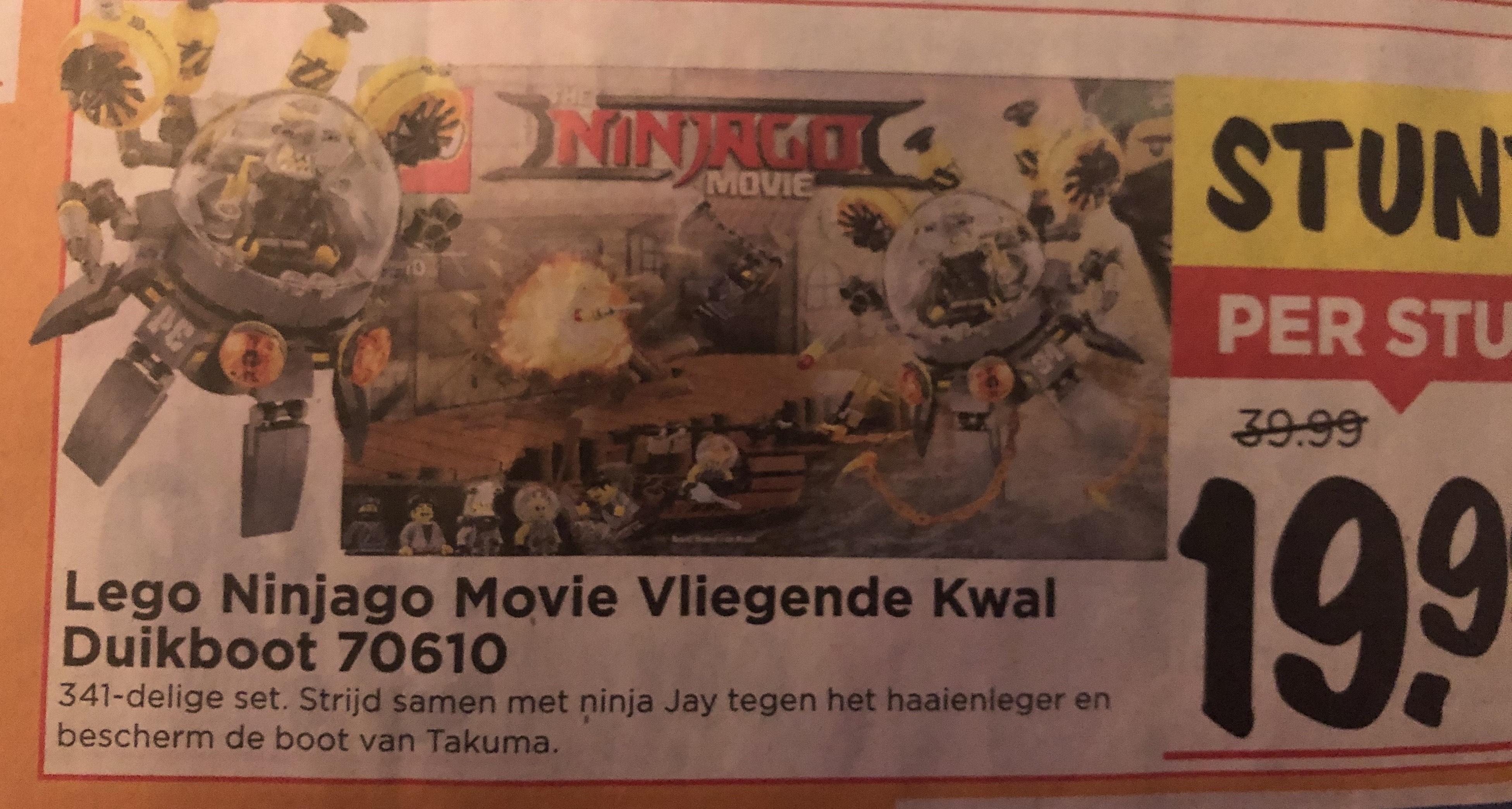 (VOMAR) 40% korting! LEGO Ninjago movie vliegende kwal 70610