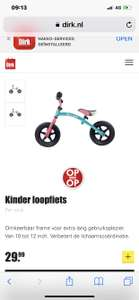 Dirk kinder loopfiets