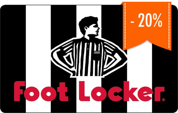 20% korting op de Foot Locker cadeaukaart @ Giffy