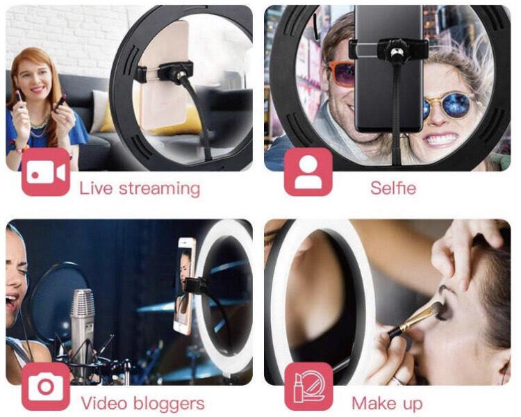 Selfie-ringlamp voor YouTube of Tik Tok