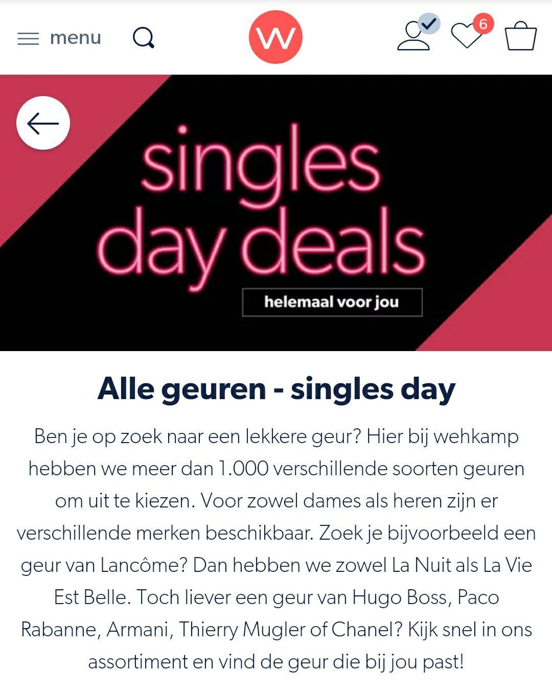 Singles day - voordelige geuren voor hem of haar
