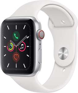 Apple watch 5 series, GPS + 4G, 44mm in het wit en 40 mm in het grijs @Amazon.de