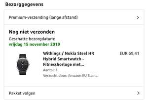 [Amazon Warehousedeal] Nokia Steel HR (40mm) voor 69 euro!