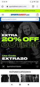 Sports Direct UK - Extra 20% korting op de outlet
