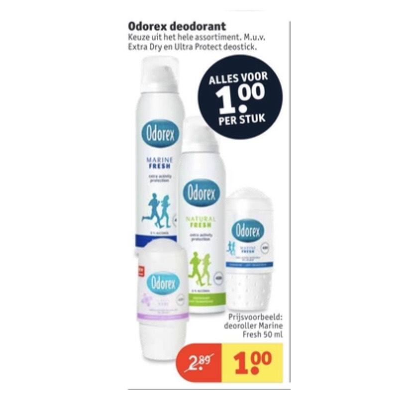 Odorex deodorant €1,- @Kruidvat