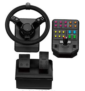 Logitech heavy (wheel/2xpedals/schakelbak controller voor farming/truck/bus) voor windows/mac.