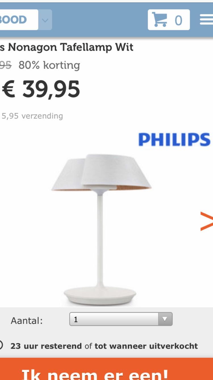 Philips nonagon tafellamp bij Ibood