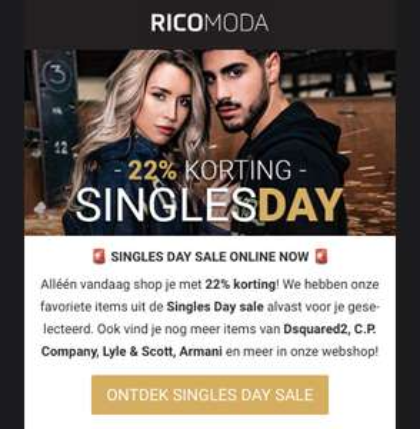22% korting bij Rico Moda op geselecteerde artikelen!