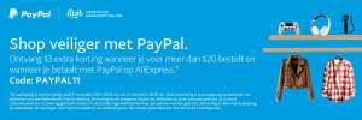 $3 korting AliExpress bij PayPal-accepted verkopers (min $20, ook met iDeal / CC!)