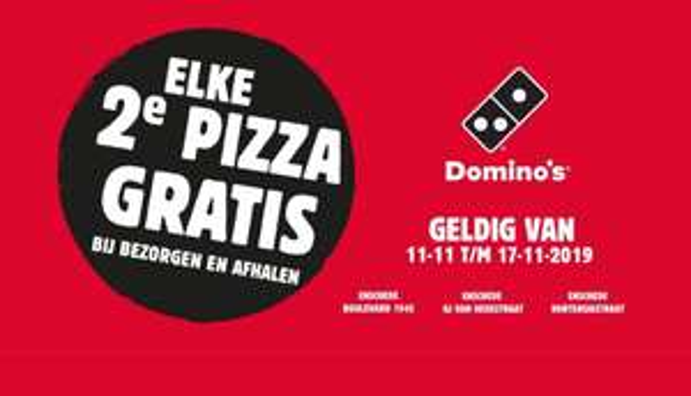 [Lokaal] Domino's Enschede 2e pizza gratis